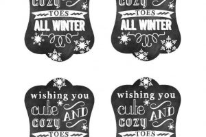 Cozy Toes Tags